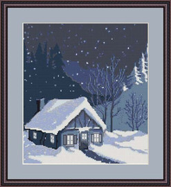 House In Snowbank Cross Stitch Kit By Luca S