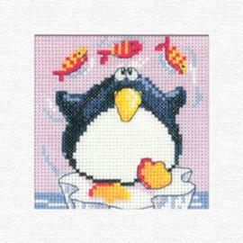 Penguin Card Cross Stitch Kit By Heritage