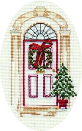 Christmas Door Card Cross Stitch Kit
