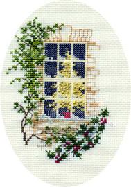 Christmas Window Card Cross Stitch Kit