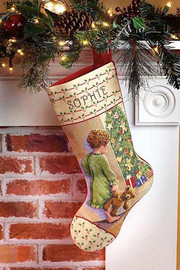 Christmas Morning Stocking Cross Stitch Kit By Janlynn