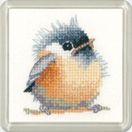 Chickadee Coaster Cross Stitch Kit