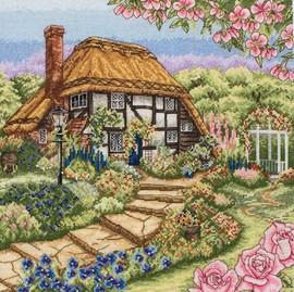 Rose Cottage Cross Stitch Kit