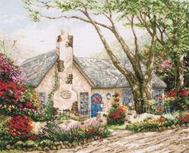 Morning Glory Cottage Cross Stitch Kit