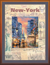 Cities Of The World New York Cross Stitch Kit By Riolis