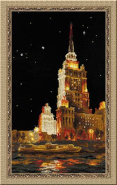 Moscow - The Ukraina Hotel Cross Stitch Kit