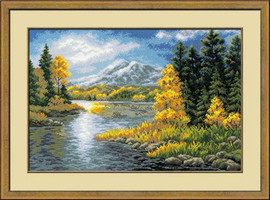 Lake In The Mountains Cross Stitch Kit