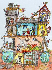 Cut Thru Castle Cross Stitch Kit