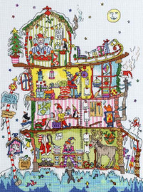 Cut Thru North Pole House Cross Stitch Kit