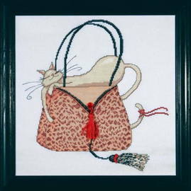 Leopard Purse Cross Stitch Kit By Design Works