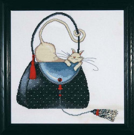Polka Dot Purse Cross Stitch Kit By Design Works