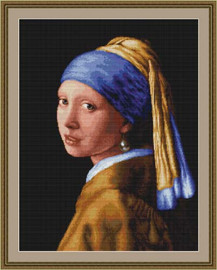 Lady With Pearl Earing Cross Stitch Kit By Luca S