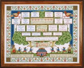Family Tree Cross Stitch Kit By Design Works