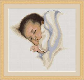 Sleep Sweetly Cross Stitch Kit By Luca S