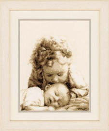 Kissing Child Cross Stitch Kit