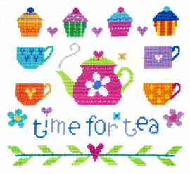 Time For Tea Cross Stitch Kit