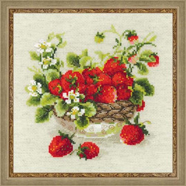 Garden Strawberry Cross Stitch Kit By Riolis