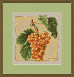 Moldovan Grapes Cross Stitch Kit By Luca S