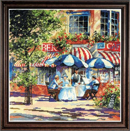 Café In The Sun Cross Stitch Kit By Design Works