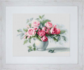 Etude With Roses Cross Stitch Kit By Luca S