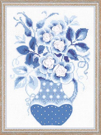 Winter Roses Cross Stitch Kit By Riolis