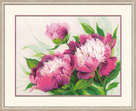 Pink Peonies Cross Stitch Kit By Riolis