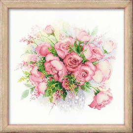 Watercolour Roses Cross Stitch By Riolis
