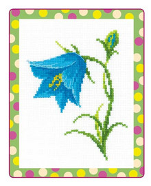 Bellflowers Cross Stitch Kit By Riolis