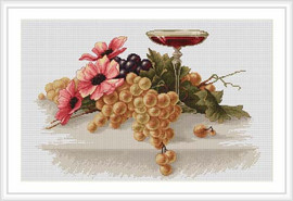 Flowers & Grapes Cross Stitch Kit By Luca S