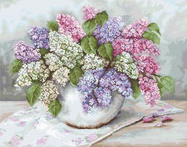 Lilacs Cross Stitch Kit By Luca S
