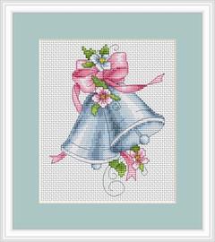Pink Bells Cross Stitch Kit By Luca S