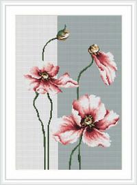 Poppies 4 Cross Stitch Kit By Luca S