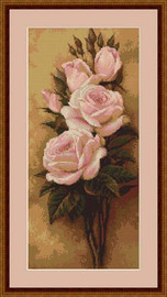 Roses I Cross Stitch Kit By Luca S
