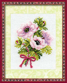 Anemones Cross Stitch Kit