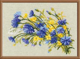 Cornflowers & Buttercups Cross Stitch Kit