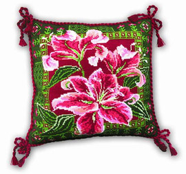 Lilies Cushion Cross Stitch Kit