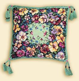 Pansy Cushion Cross Stitch Kit