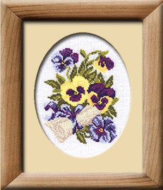 Pansy Letter Cross Stitch Kit