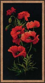 Poppies Cross Stitch Kit By Riolis