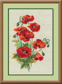 Wild Poppies Cross Stitch Kit