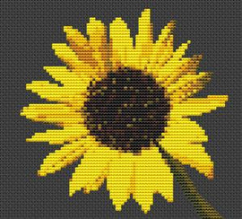 Sunflower Flower Cross Stitch Kit