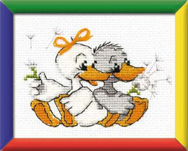 Grandmas Merry Geese Cross Stitch Kit By Riolis