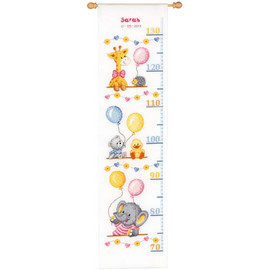 Baby Shower Height Chart Cross Stitch Kit By Vervaco