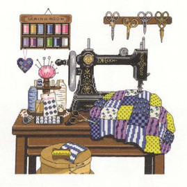 Antique Sewing Room Cross Stitch Kit By Janlynn
