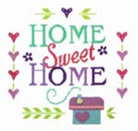 Home Sampler Cross Stitch Kit By Stitching Shed