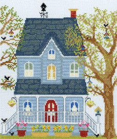 New England Homes - Spring - Cross Stitch Kit