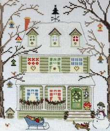 New England Homes - Winter - Cross Stitch Kit