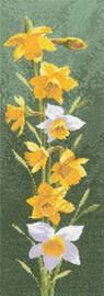 Daffodil Panel Cross Stitch Kit By Heritage