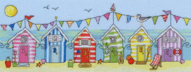 Beach Hut Fun Cross Stitch Kit