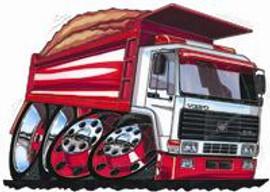 Volvo Dumper Truck Bulk Cross Stitch Kit